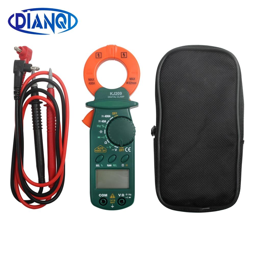 Kw209 pequeño DC AC digital abrazadera medidor portátil de bolsillo DC AC abrazadera ammetros multímetro