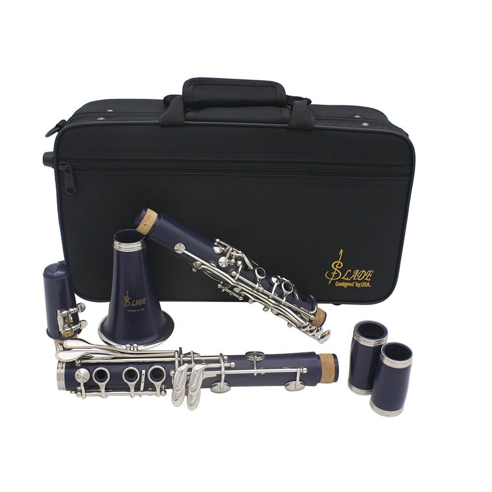 SLADE 17 Keys Clarinet Bb B Flat Professional Woodwind Instrument ABS Resin Tube Clarinet With Box Reed Musical Instrument Parts enlarge