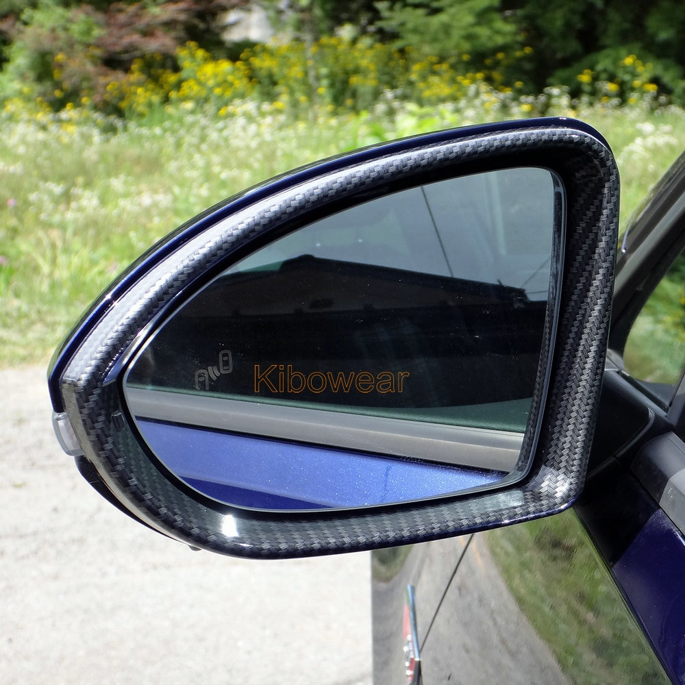 Парная рамка для зеркала заднего вида (карбоновая оправа) для VW Golf 7 MK7 7,5 R GTI GTD, замена 2015 2016 2017 2018 2019