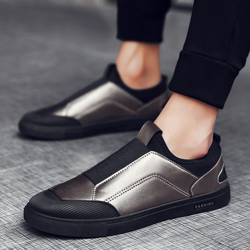 Spring Shoes Men Autumn Leather Shoes Men Casual Shoes Slip-on Male Sneakers Fashion Trend Breathabl