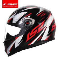 100% original LS2 guerrier intégral moto rcycle casque moto cross racing casque LS2 ff358 ECE certification casco moto casque
