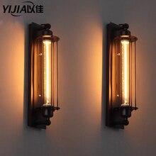 YIJIA nordique rétro applique loft lampe couloir portes, portes lumière art déco éclairages rétro lampe de chevet passage scène barre maison