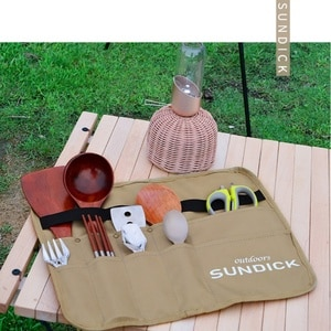 Storage Bag Camping Meal Bag Outdoor Hiking Barbecue Tableware Oxford Cloth Water Proof Tableware