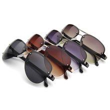 New Aviation Frame Quality Oversized Spring Leg Alloy Men Sunglasses Polarized Brand Design Pilot Ma