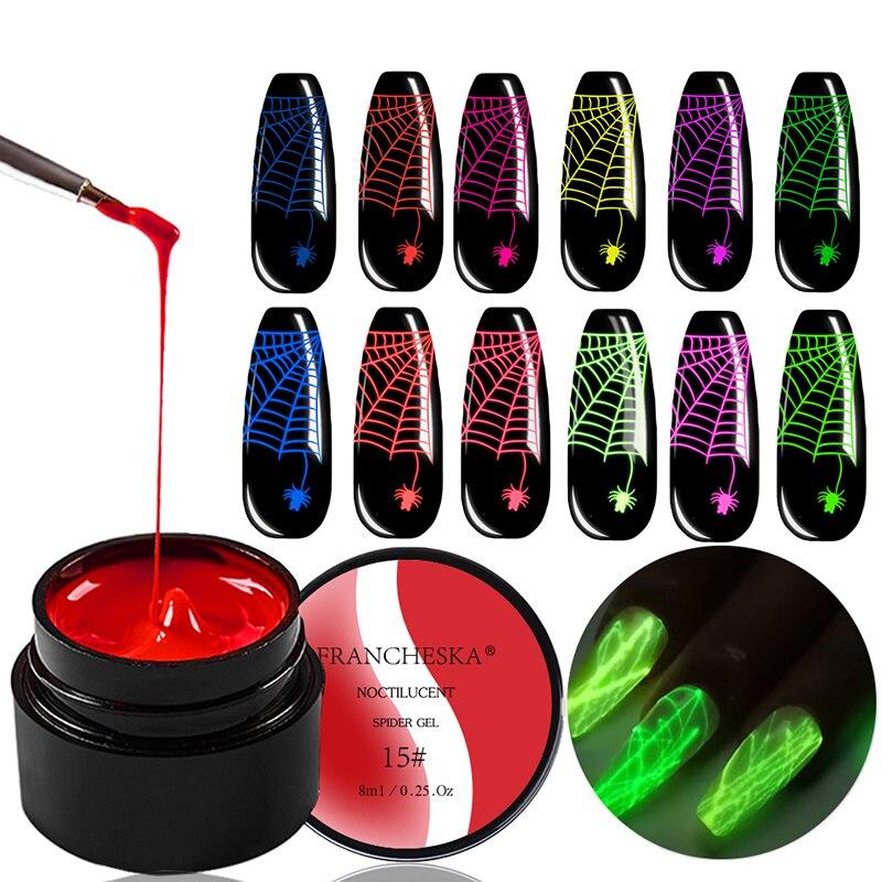 31 tipos de desenho de fio de aranha pintura de unhas gel profissional arte do prego puxando linha de seda estilo luminoso opcional maquiagem do prego tslm2