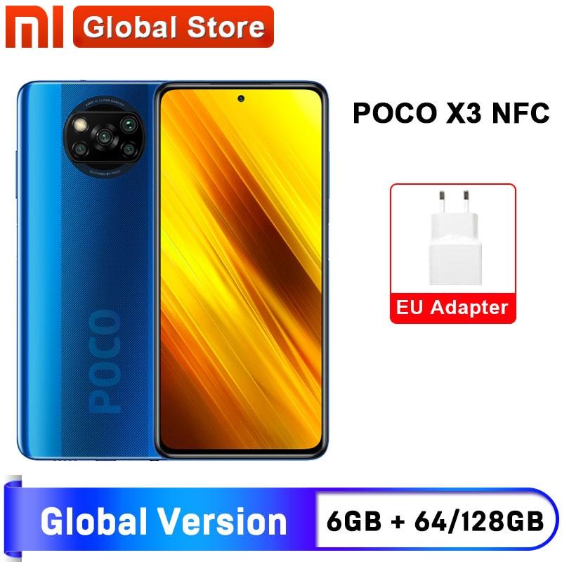 Global Version Xiaomi POCO X3 NFC 6GB 64GB / 6GB 128GB Smartphone Snapdragon 732G Octa Core 64MP Quad Camera 6.67
