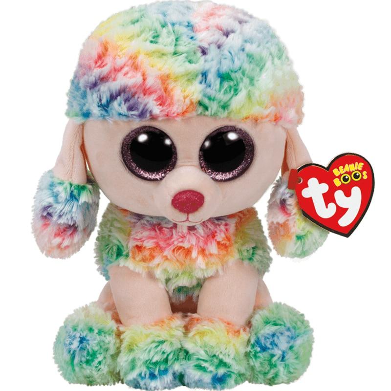 15 см Ty плюшевый Кукла-животное Синяя Радуга собака красочный Пудель щенок мягкие игрушки Рождественский подарок для детей