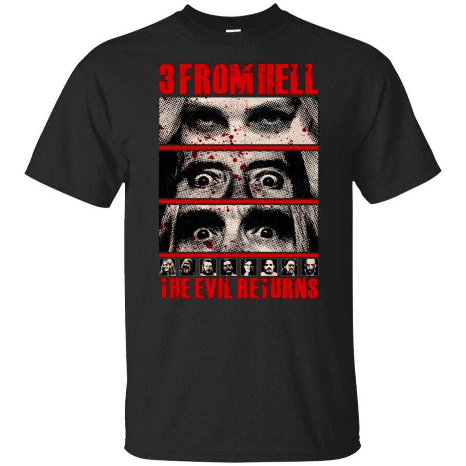3 de Hell película camiseta Horror Rob demonio zombi negro-Azul marino para hombres-mujeres adultos camiseta Casual