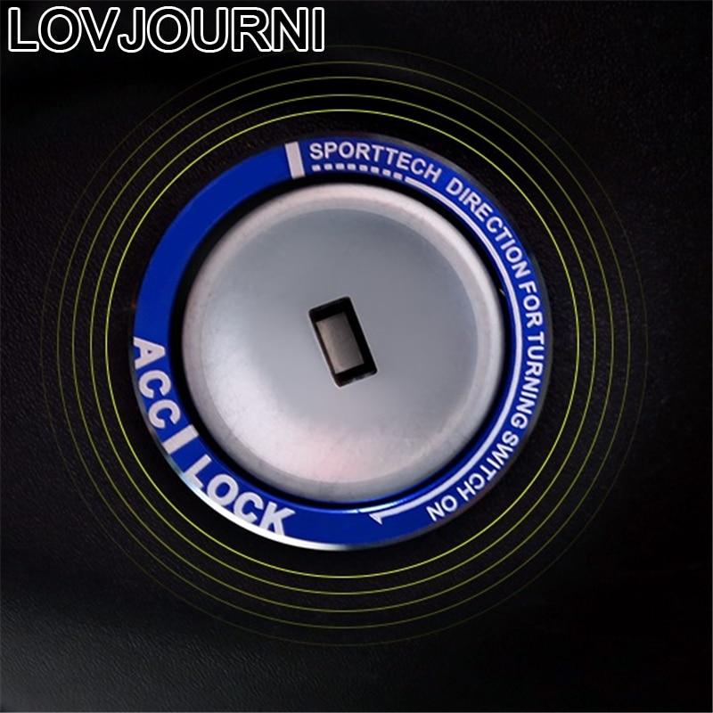 Interior de ignición Automovil decorativo automóvil cromo embellecedor pegatina tira piezas accesorio lentejuelas brillantes 18 para Buick Vernao