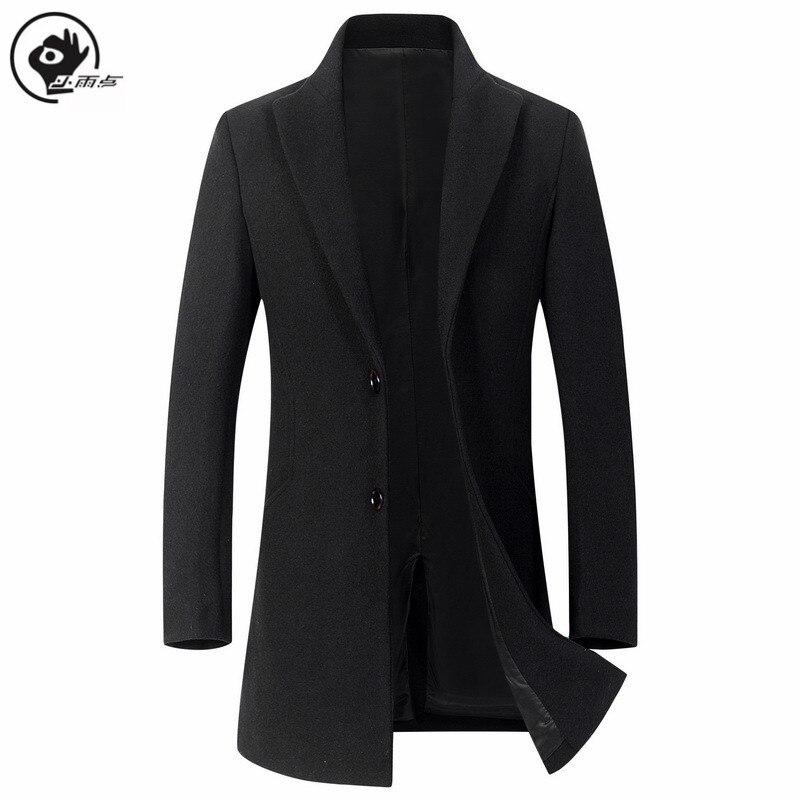 Little Rain-Chaqueta de lana para Hombre, abrigo grueso de lana, abrigo de...
