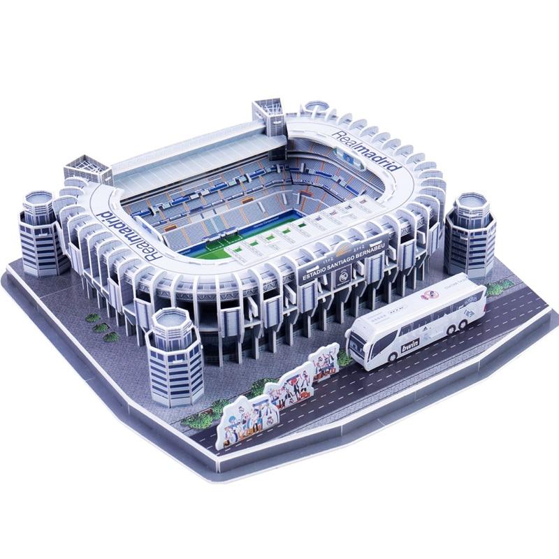 Классический Пазл «сделай сам», пазлы для футбола и стадионов в стиле «весна-лето», игрушечные объемные модели