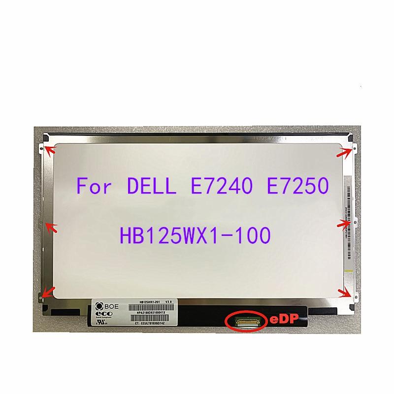 Pantalla lcd de 12,5 pulgadas para portátil DELL E7240, E7250, HB125WX1-100, B125XTN03,...