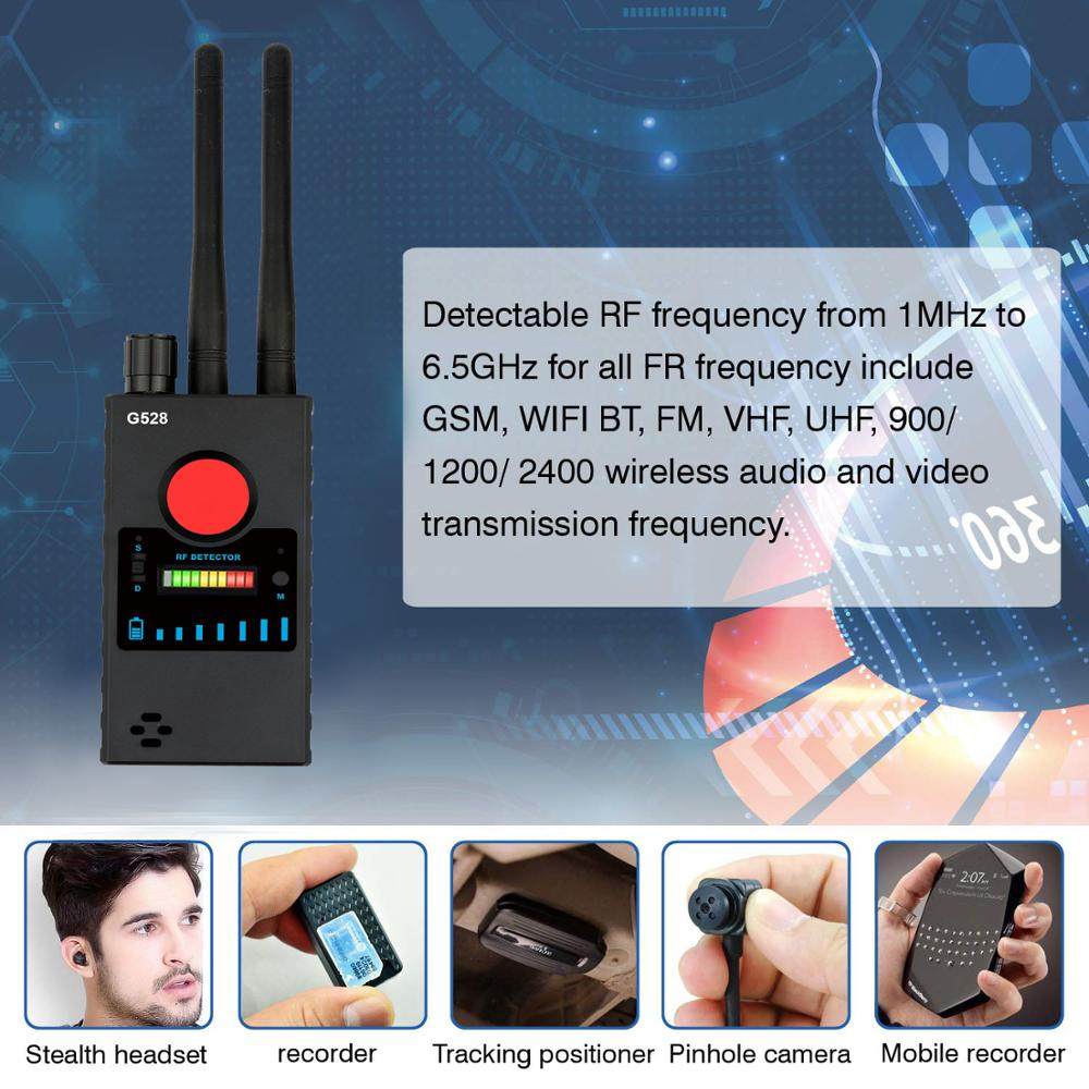 G528 Anti Spy Camera Detector LED Infrared Scanning RF Signal Detection Wireless Bug Micro Cam GSM GPS Tracker enlarge