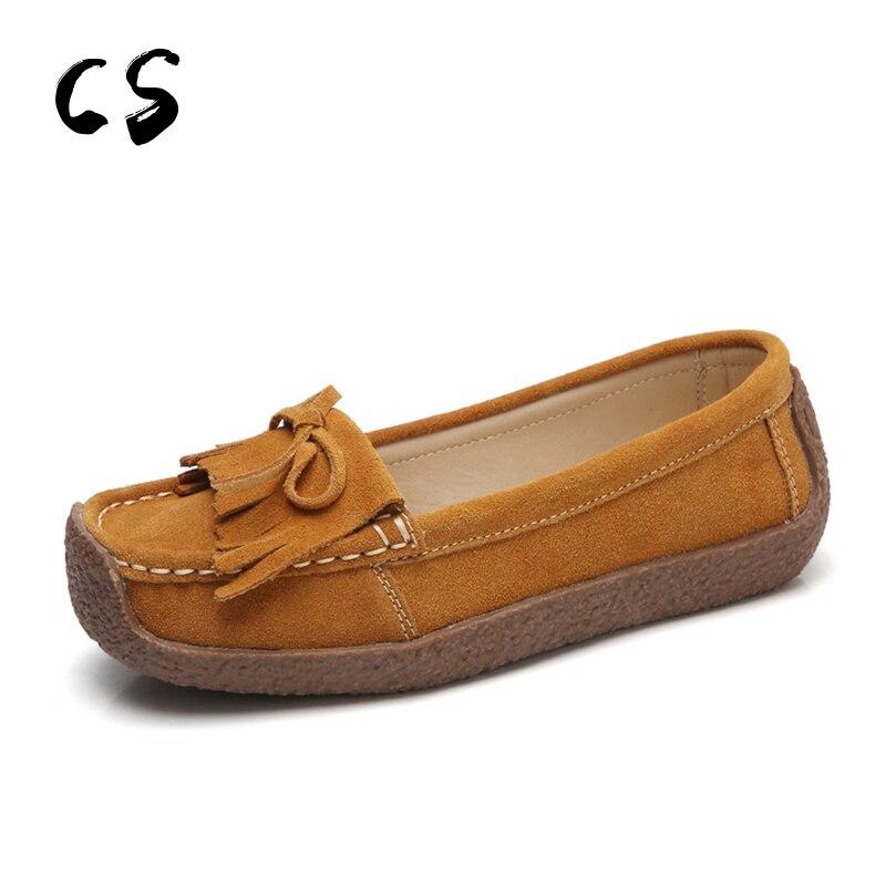 Cuculus grande taille chaussures femmes ballerines daim cuir gland sans lacet mocassins femmes peu profonde mocassins bateau chaussures ballerine 579