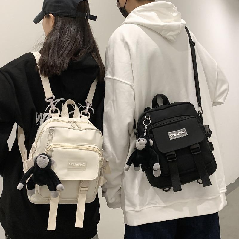 Пара Мини-рюкзаков противокражная сумка через плечо школьная сумка студенческий рюкзак