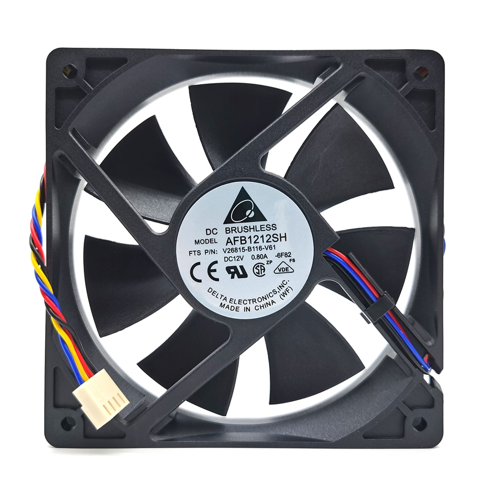 for delta  AFB1212SH 12CM 1225 12025 120X120X25MM PWM 4 PIN DC 12V 0.80A Cooling Fan Good Quality