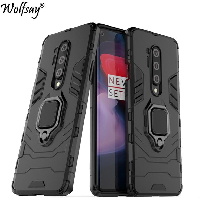 Para OnePlus 8 Pro funda armadura magnética soporte de succión cubierta completa para OnePlus 6T 7 8 Pro 7T Pro funda para OnePlus 7T Pro 5G McLaren