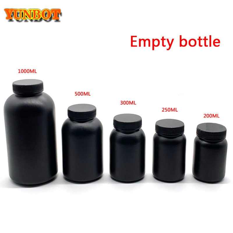 A parte da impressora 3d recicla a resina vazia garrafa fotossensível resina uv grande diâmetro garrafa vazia protege da luz