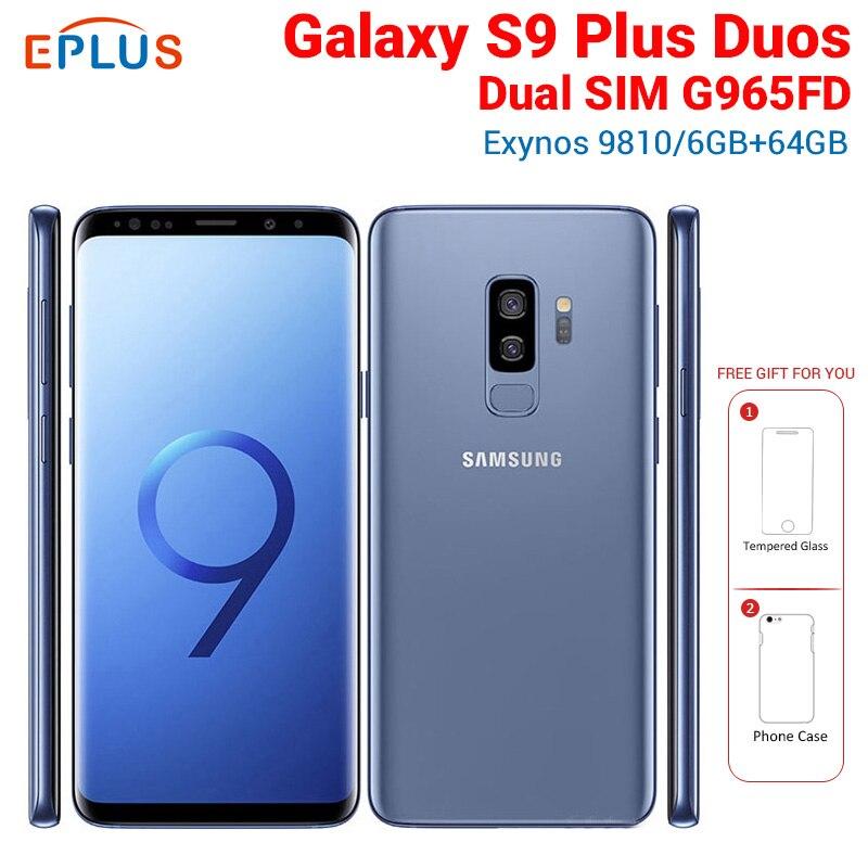 "Marke Neue Original Globale Samsung Galaxy S9 Plus S9 + Duos G965FD Dual SIM Handy 6,2 ""6 GB 64GB 12MP 4G LTE NFC SmartPhone"