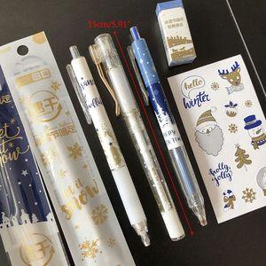 1 Set Kawaii Ice Festival Gel Pen Pencil Eraser Sticker Refill Black Ink Student