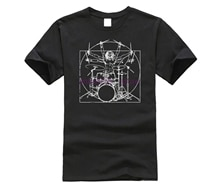 2019 brand men shirt Drums T Shirt Davinci Drummer Drumsticks Drumset Gift Tee