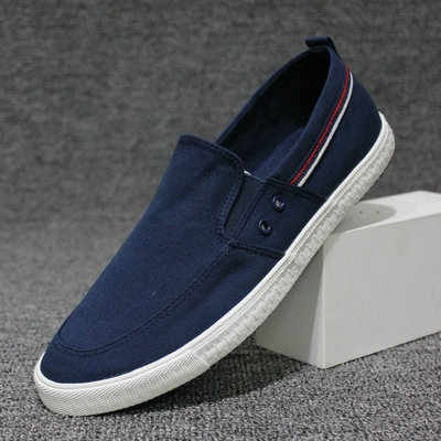 New 2021 White canvas shoes men's Korean version casual shoes hot sale breathable summer cloth shoes lazy shoes men's small whit