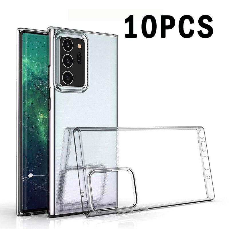10 pièces Note 20 étui Transparent souple étui pour Samsung Galaxy Note 20 Ultra Coque arrière transparente Coque pour Samsung Note20 Ultra