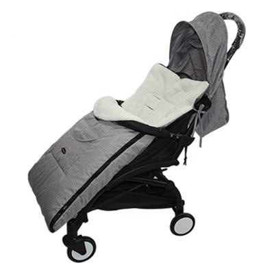 Saco de dormir para bebé Otoño e Invierno grueso saco de dormir para cochecito cálido bolsa de niños Anti-expulsión Niño con doble cremallera