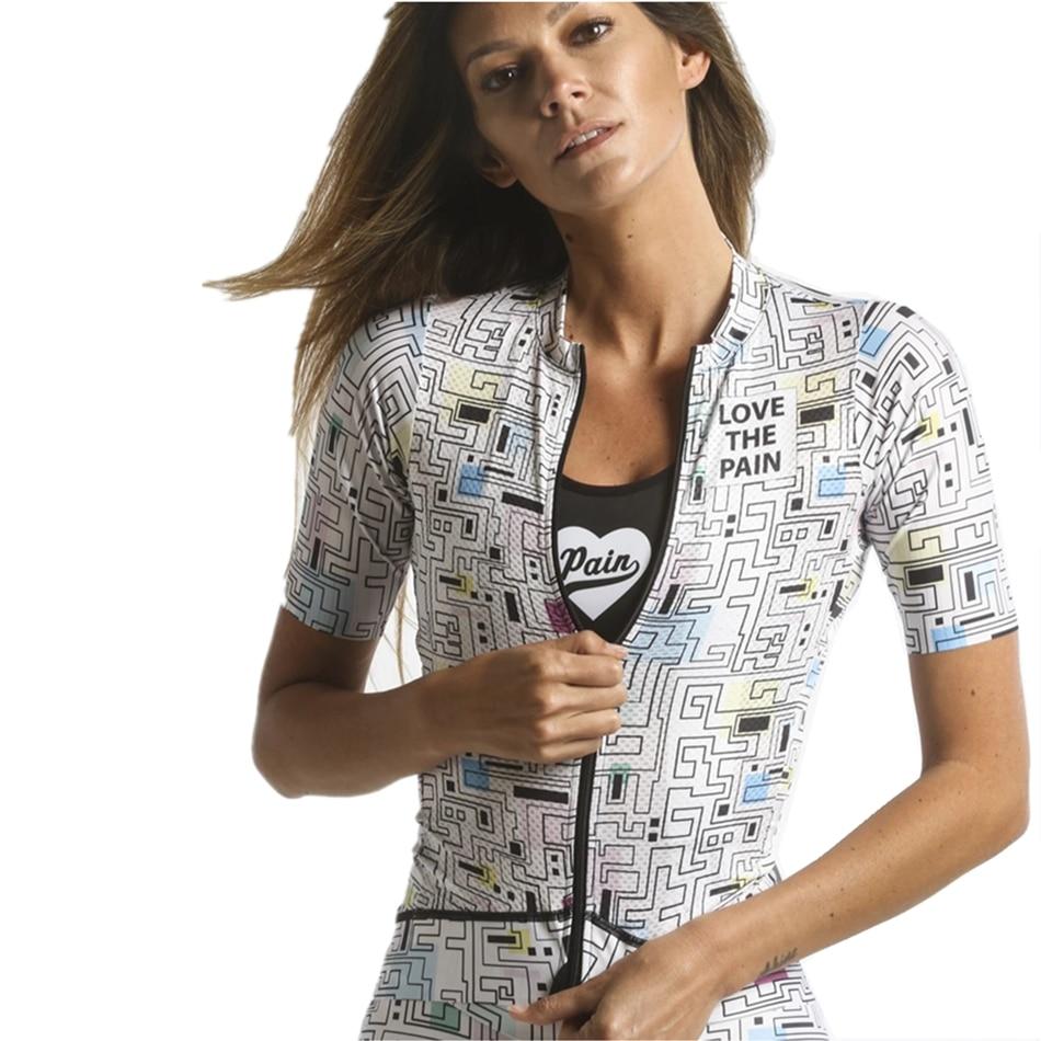 Love The Pain Cycling Jersey Women Bicycle Tops Summer Short Sleeve Shirts Usa Ropa Ciclismo Maillot Mtb Kits Road Bike Clothing