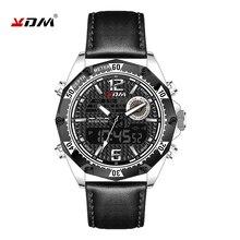 Kdm relojes hombre 2019 듀얼 쿼츠 디지털 아연 합금 케이스 led 야간 조명 스포츠 남성 시계 zegarek meski 하이킹