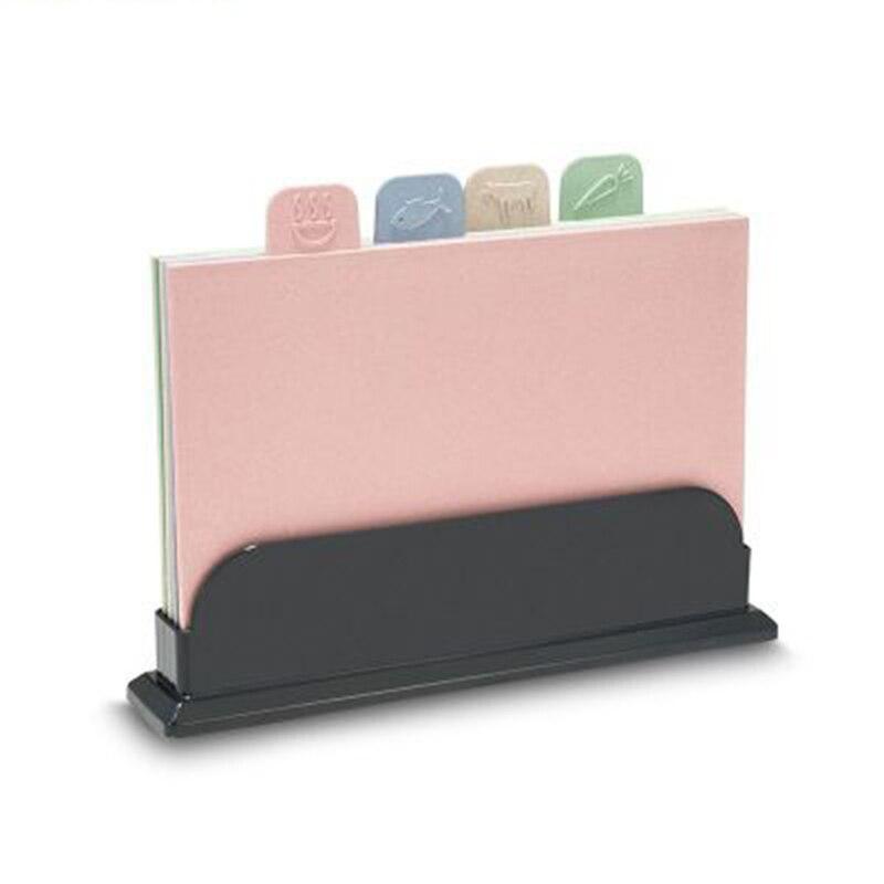 ألواح تقطيع اللون مشفرة مجموعة ألواح تقطيع من 4 قطع المطبخ عدم الانزلاق إعداد الطعام لوحة تقطيع مستديرة قابلة للطي