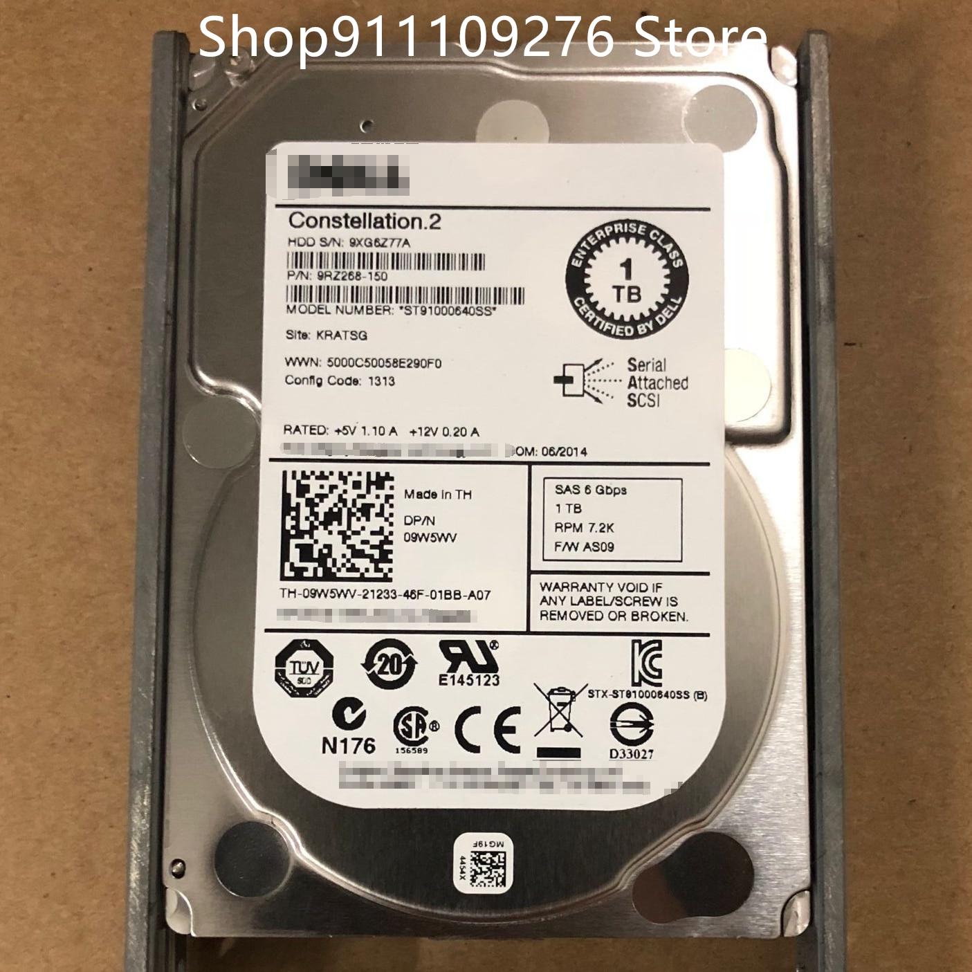 الأصلي HDD لديل/سيجيت ST91000640SS 2.5 بوصة SAS 6 جيجابايت في الثانية 1 تيرا بايت RPM 7.2K