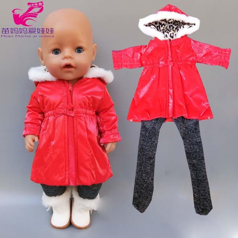 Niños regalo Baby Doll abrigo largo leggings 18 pulgadas American OP girl Doll chaqueta bebé cumpleaños regalos