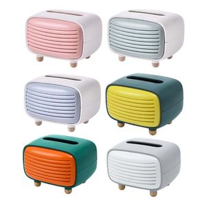 Vintage Radio Facial Tissue Box Cover Napkin Holder Organizer Paper Towel Dispenser Container for Bathroom Car Office Home Decor