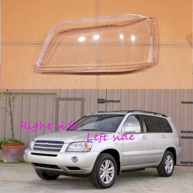 Car Headlight Lens For Toyota Highlander 2004 2005 2006 Headlamp Cover Car Replacement Front Auto Shell Cover