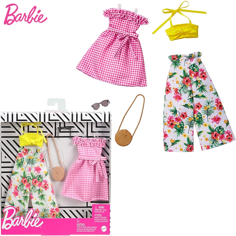 Original Barbie Accessories Clothes Fashion Outfit for 30cm Dolls Toys Children Girls Doll Dress
