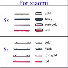 YuXi 1set bouton latéral touche marche/arrêt + Volume haut/bas bouton de remplacement de verrouillage pour Xiao mi mi A1/mi 5X/A2/6X