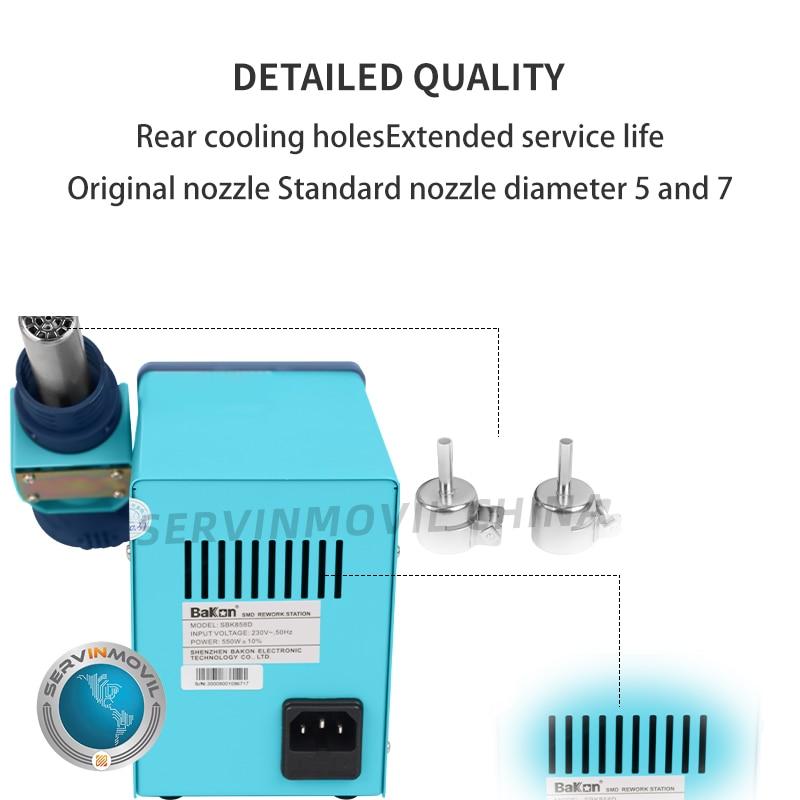 Bakon SBK858D Digital Display Rework Hot Air Gun Desoldering Station for Repair Cellphone Soldering Station And Hot Air enlarge