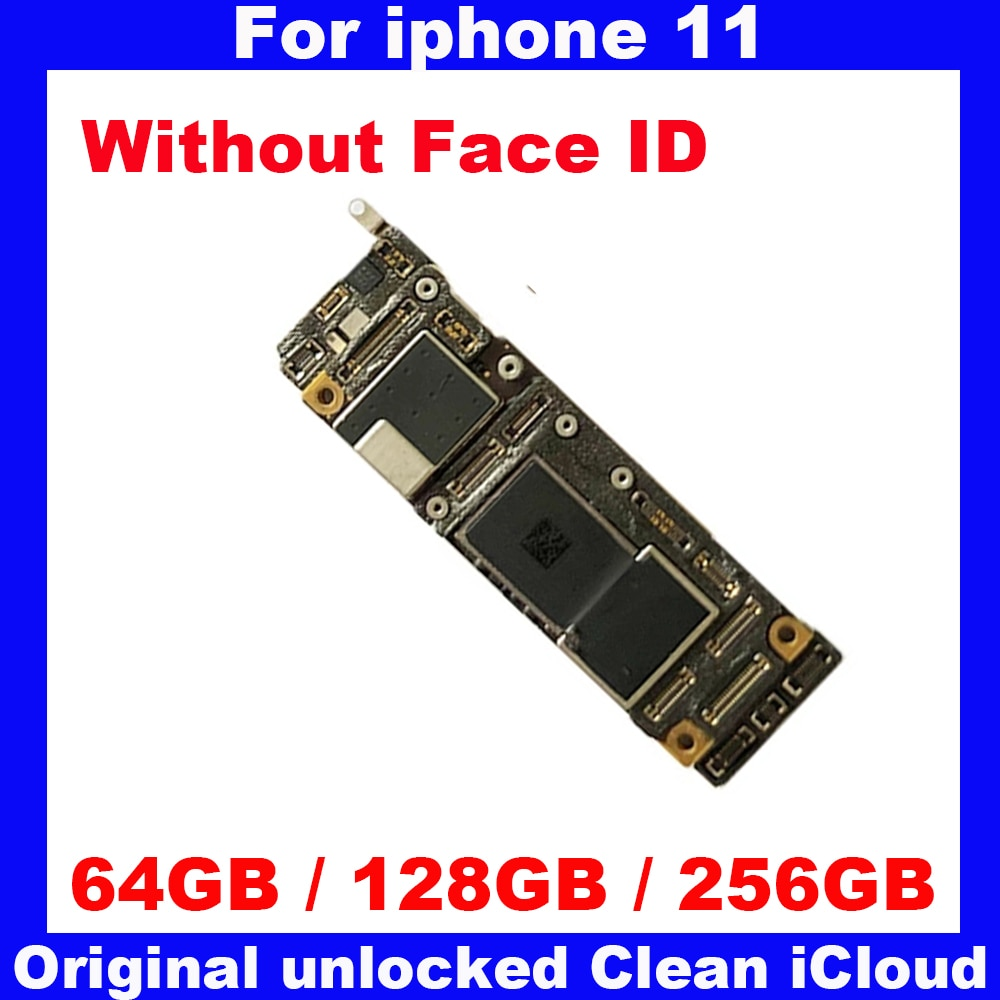 Review Factory Unlocked Mainboard Without Face ID for iphone 11 Original Motherboard IOS System Logic Board 64GB 128GB 256GB IOS Plate