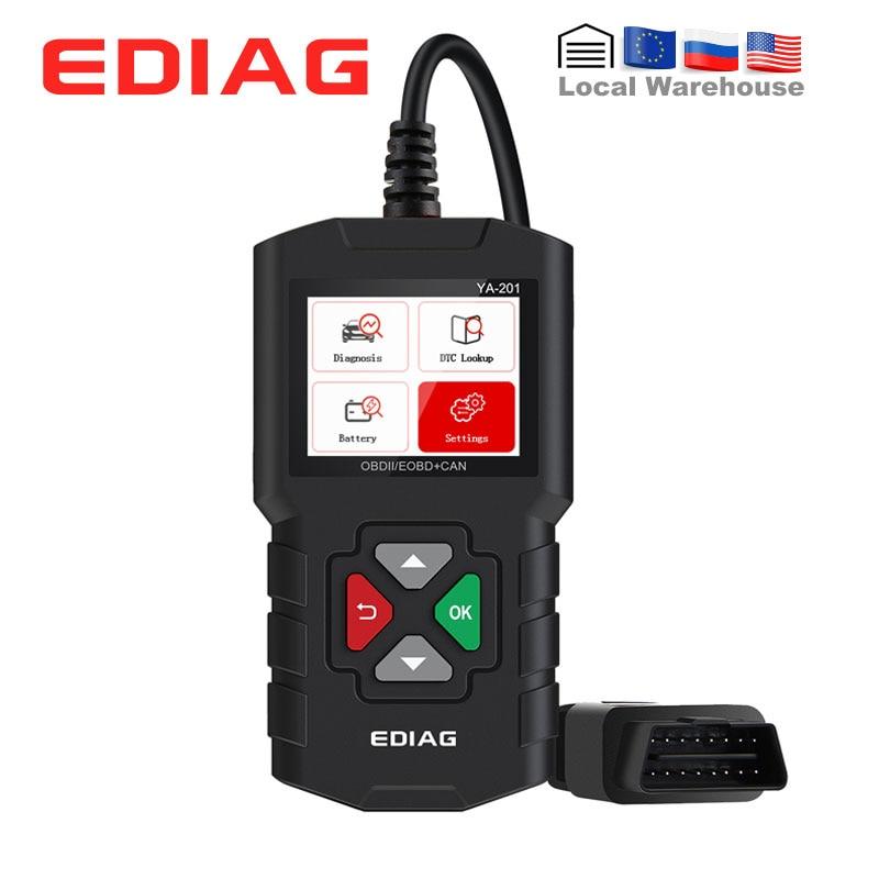 Ediag-YA201 lecteur de Code de voiture, outil de Diagnostic automatique, enregistrer/lire les données, Scanner, câble OBD2, AL319, CR3001, mise à jour gratuite