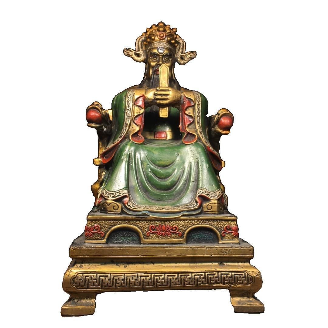 Laojunlu النحاس النقي رسمت التنين الملك بوذا تمثال للمنزل فنغ شوي العتيقة برونزية تحفة مجموعة من الانفرادي