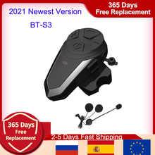 BT-S3 Bluetooth Helmet Intercom IPX7 Waterproof BT 3.0 with FM ! BT-S3 1000m Headset Motorcycle bluetooth helmet Intercom