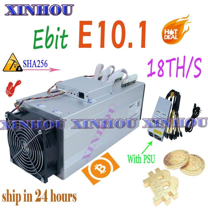 ASIC minero bitcoin Ebit E10.1 sha256 BTC BCH minero con PSU más económico que E10.2 E12 + antminer S9 S17 T17 S15 S11 Z11 T2 T2T T3