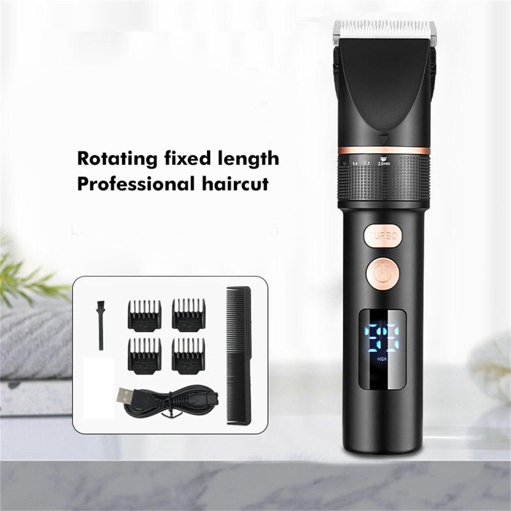 مقص الشعر الكهربائية الانتهازي USB قابلة للشحن اللاسلكي ماكينة حلاقة حلاقة قص الشعر آلة الحلاقة المهنية حلاقة للرجال