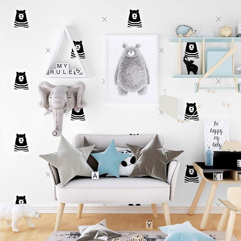 Beibehang inglês crianças quarto papel de parede dos desenhos animados urso menino livro avião