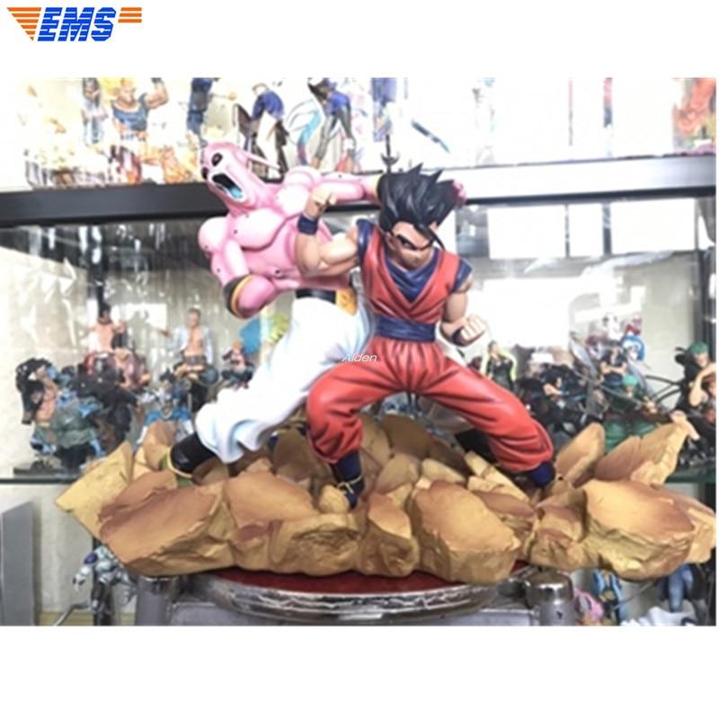 "16 ""estátua Busto Super Saiyan Dragon Ball Z Son Gohan Full-Length Retrato Universo Chefe Majin Buu GK ação Modelo Toy BOX Z2599"