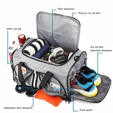 Sac de sport Fitness sac à main multifonctionnel cylindrique sacs de voyage séparation sèche-humide unique épaule Oblique sac denvergure