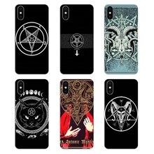 Transparente fundas de carcasa blanda para Samsung Galaxy A5 A6 A7 A8 A9 J4 J5 J7 J8 2017 Más de 2018 primer killstar el satanismo logotipo