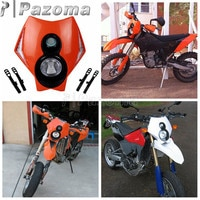 Orange Universal Motorcycle Drit Bike Headlights Supermoto Headlamp Off Road for EXC EXCF SX SXF SMR XCR XCW XCF MX 125 200 250