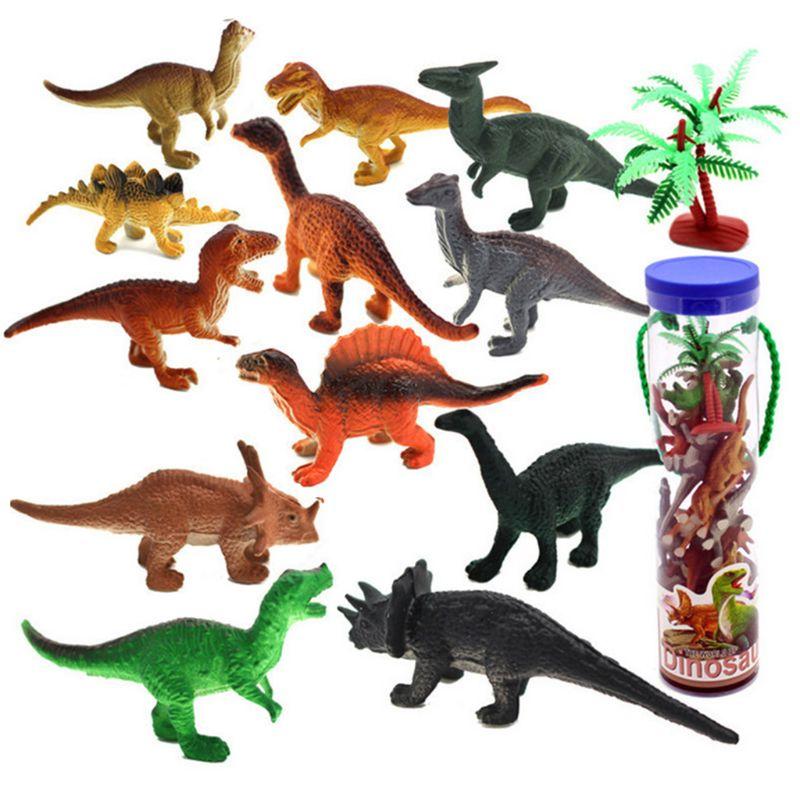 12 Pcs Mini Dinosaur Play Set, Assorted Realistic Small Dinosaur Figure Model DXAD
